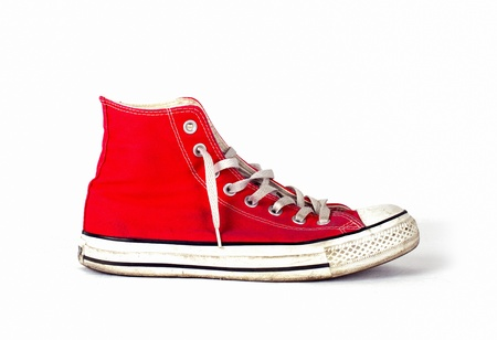 vintage sports red shoes  Stock Photo - 17870013
