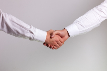 Hand shake between a businessman  photo
