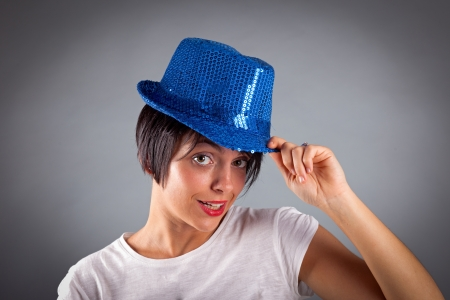 Portrait of beautiful girl with hat Stock Photo - 17870131