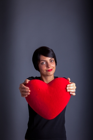 Girl with Heart Stock Photo - 17870127