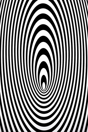 optical image: Concentric ovals Stock Photo