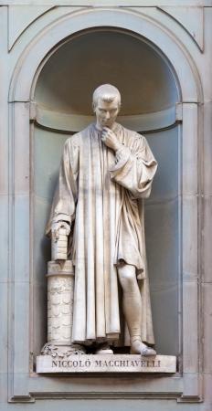 Stone statue of Nicol� Macchiavelli Reklamní fotografie