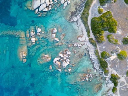 Bovenaanzicht van de kust van Sardinië.