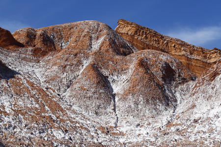 Mountains of the Cordillera of the Sal in the Valley of the Moon (Valle de la Luna), Atacama Desert, Chile