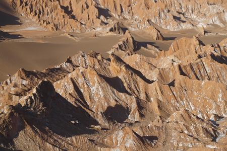 View of the Mars valley (Valle de Marte) and Cordillera de la Sal, Atacama Desert, Chile