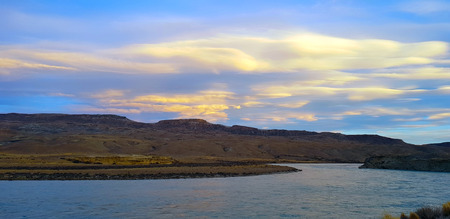 Colors at sunset of the Argentine Patagonia landscape along the Ruta 40 near El Calafate