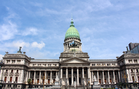 The Palace of the National Congress of Argentina in Buenos Aires. A monumental building, seat of the Argentine National Congress