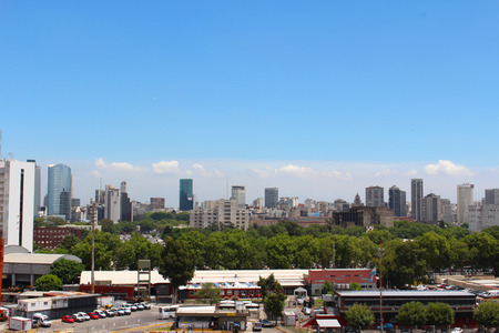 View of Buenos Aires skyline during the day, Buenos Aires, Argentina Stock Photo