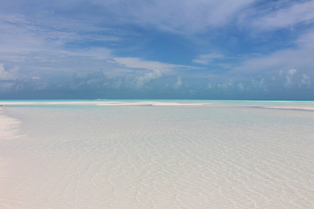 A beach of an island in the Caribbean: Sandy Cay, Exumas, Bahamas