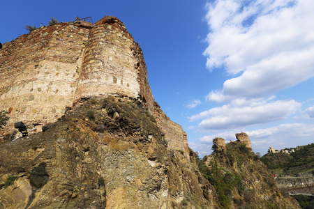 The ruins of the fortress that dominates the city of Tbilisi. Ruins of Narikala Fortress, Tbilisi, Georgia