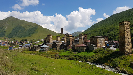 The tower-houses of the village of Ushguli in Svaneti in Georgia are recognized