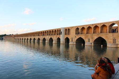 Bridge arches. Si-o-se-pol Bridge in Isfahan, Iran. The Si-o-se-pol Bridge is also know as Allahverdi Khan Bridge.