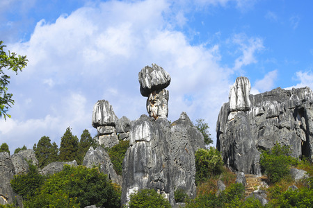 The surreal landscape of the Stone Forest, Shilin, Yunnan, China