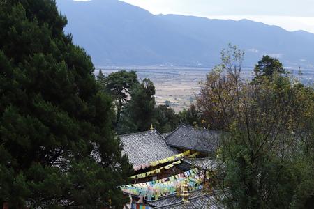 View from the Temple of the Jade Peak (Yufengsi), Baisha village, Lijiang, Yunnan, China
