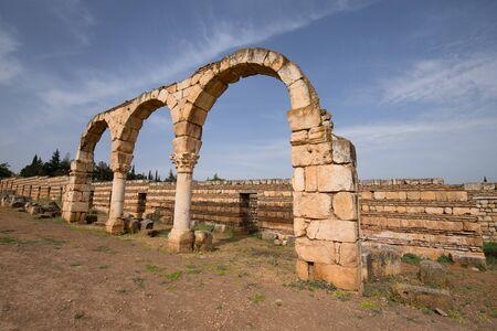 The ruins of the Umayyad city of Anjar. Beqaa Valley, Lebanon - June, 2019