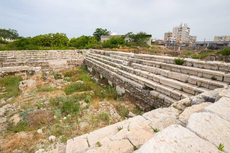 Arena. Roman remains in Tyre. Tyre is an ancient Phoenician city. Tyre, Lebanon - June, 2019 Фото со стока