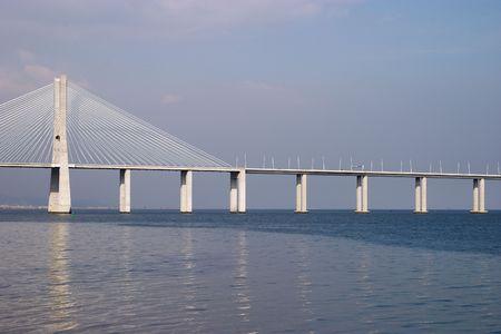 Bridge Vasco da Gama on Rio Tejo, Lisbon, Portugal photo