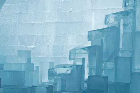 peculiar: Jukkasj�rvi ice hotel near Kiruna in Lapland, Sweden Stock Photo