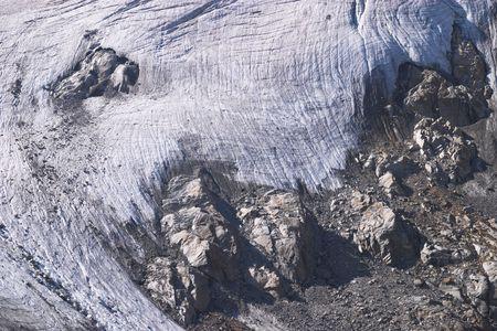 crack climbing: Ice and rocks, Alps, Italy