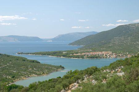Panoramic view of the village of Cres, Dalmatia, Croatia Stock Photo