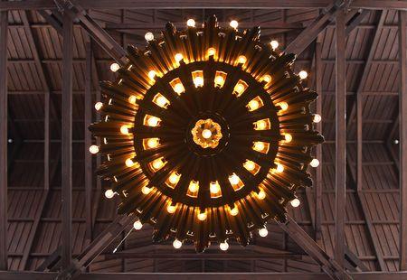 kiruna: Lamp of the church of Kiruna, Lapland, Sweden Editorial