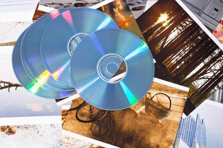 CD compact disk and digital photography