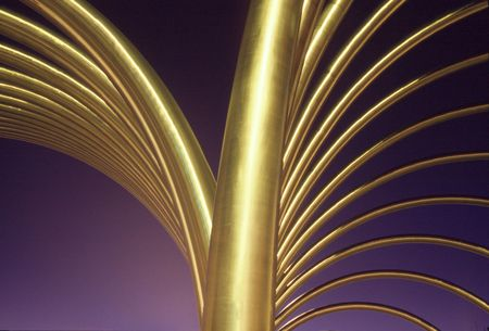 elaboration: Geometric gold monument