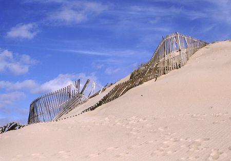 roca: Sand dune at Cabo da Roca, Portugal Stock Photo
