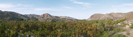 Panorama of Mulege, Baja California, Mexico Stock Photo