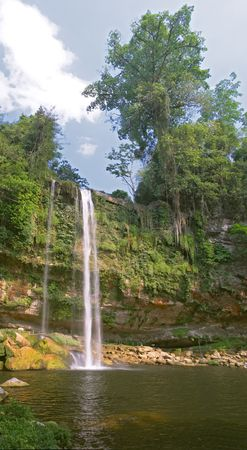 Cascada (waterfall) Misol Ha, Chiapas, Mexico photo