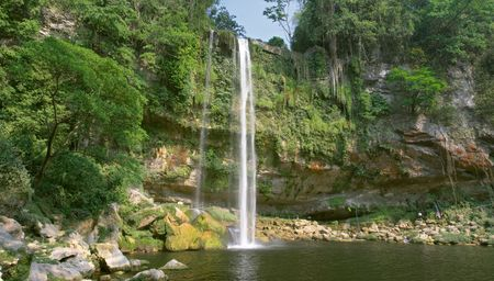 Cascada (waterfall) Misol Ha, Chiapas, Mexico Stock Photo