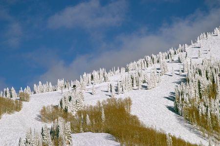 Mountain at winter, Steamboat ski resort, Colorado, United States Stock Photo