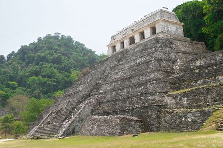 archaeological site: Temple of the inscriptions, Palenque archaeological site, Mexico