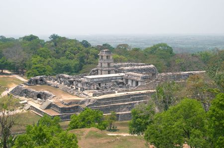 Palace of Palenque archaeological site, Mexico photo