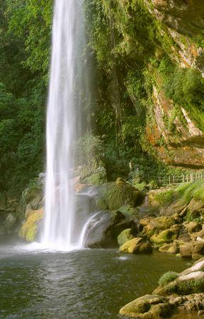 Cascada (waterfall) Misol Ha, Chiapas, Mexico Stock Photo