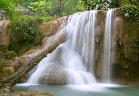 Cascada de Cascadas de Agua Azul, Chiapas, M�xico Foto de archivo - 456527