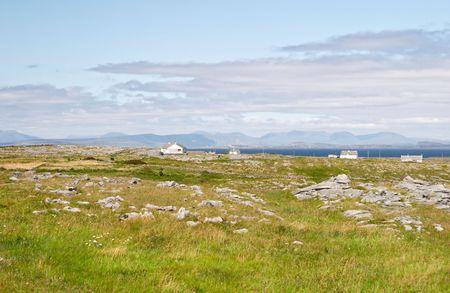 aran islands: Paisaje islas Aran, Inis Se�or, Irlanda Foto de archivo