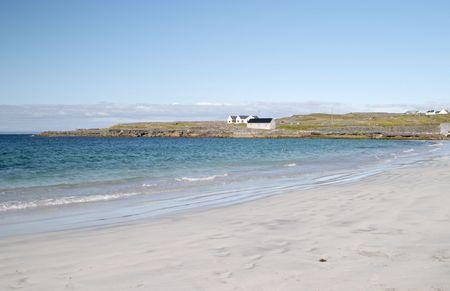 aran islands: Beach at Inis M�r, Aran islands, Ireland Stock Photo