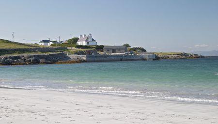 aran islands: Playa en Inis M�r, las islas Aran, Irlanda  Foto de archivo