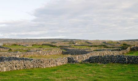 aran islands: Las islas de Aran ajardinan, Inis M�r, Irlanda