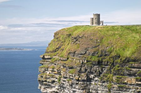 moher: Castle at Cliffs of Moher, Ireland