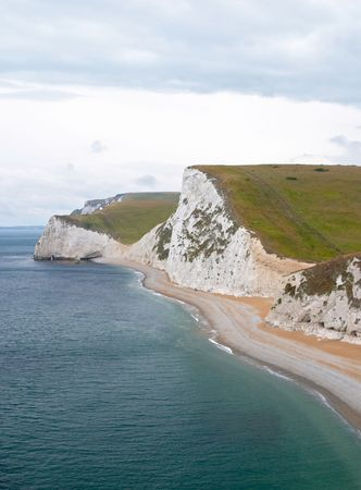 Cliff at Dorset coast, Bournemouth, England