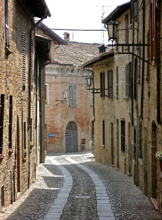piacenza: Castell�Arquato, Piacenza, Italy Stock Photo