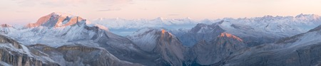 Sunrise in Dolomites Stock Photo