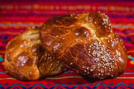 ofrenda day of muertos, Mexican Bread traditional in a offering in Mexico Foto de archivo