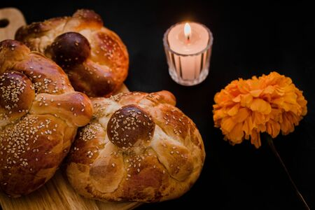 Pan de Muerto Mexico, Mexican sweet Bread during Day of the Dead festivities