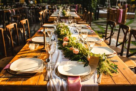 table setup, wedding guest table, reception layout vintage and rustic