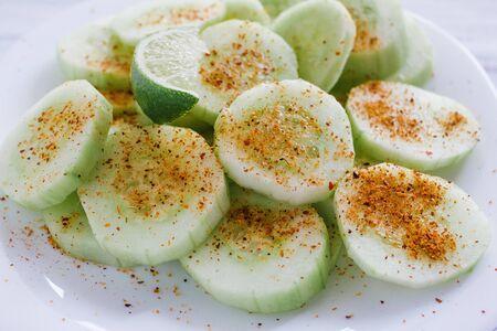 pepinos, Slices of cucumbers