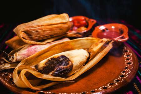 tamales mole poblano traditional mexican food in Mexico Фото со стока