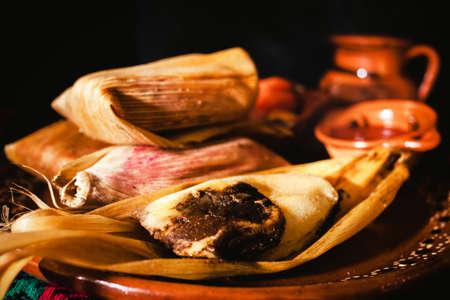 tamales mole poblano traditional mexican food in Mexico Фото со стока - 152915577